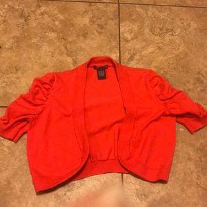 Other - Coral Orange Shrug